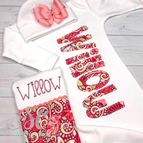 Personalized Baby Gown - Baby Shower Gift for Girls