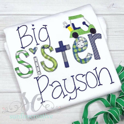 Big Sister Golf Shirt - Sibling Shirt