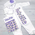 Baby Girl Coming Home Outfit - Personalized Outfit - Sunfire Creative Baby Boutique