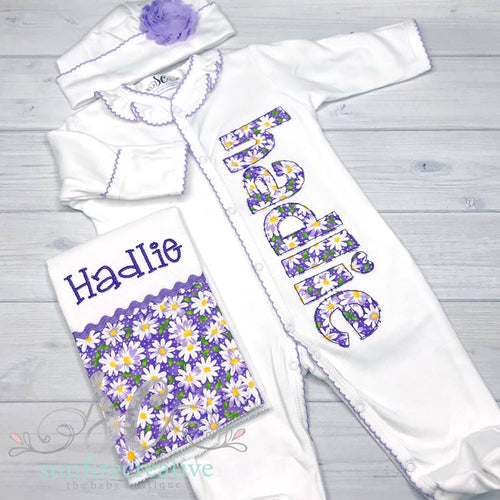 Baby Girl Coming Home Outfit - Personalized Outfit