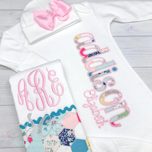 Personalized Baby Girl Gown - Baby Shower Gift