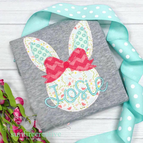 Gray Easter Bunny Shirt for Girl