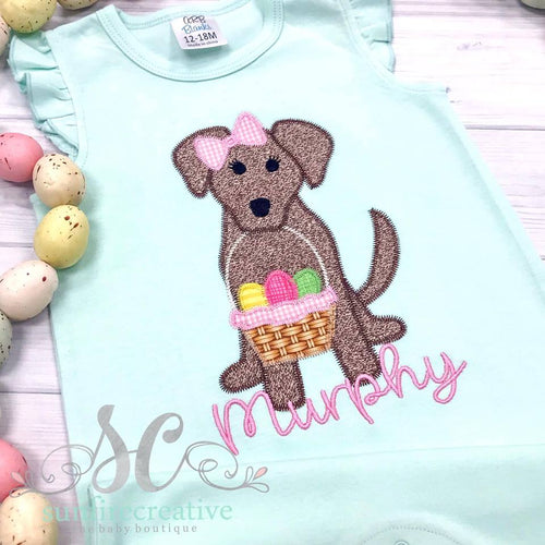 Mint Easter Puppy Romper