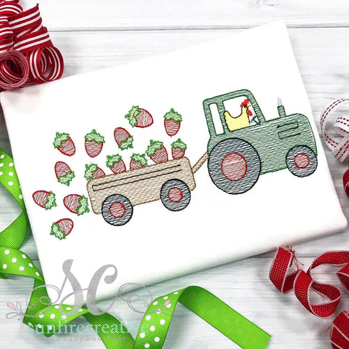Strawberry Tractor Shirt