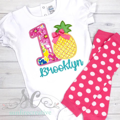 Girl Birthday Outfit - Pineapple Birthday Outfit