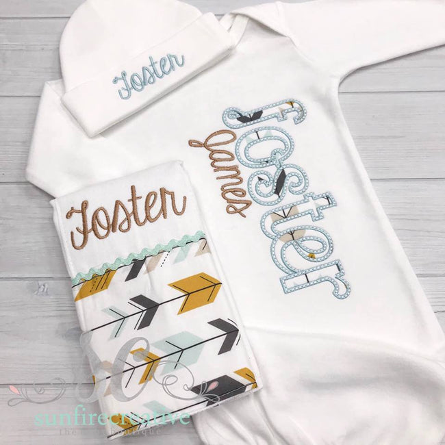 Woodland Baby Outfit - Sunfire Creative Baby Boutique