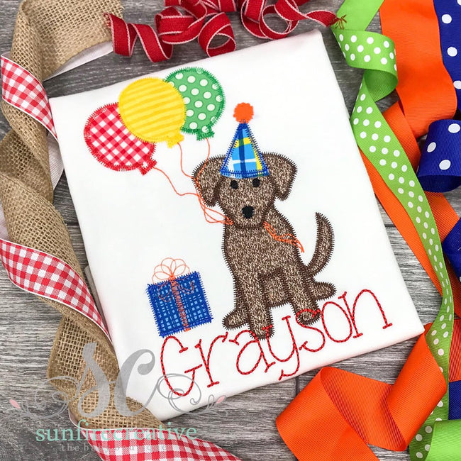 Birthday Dog Shirt for Boys - Sunfire Creative Baby Boutique