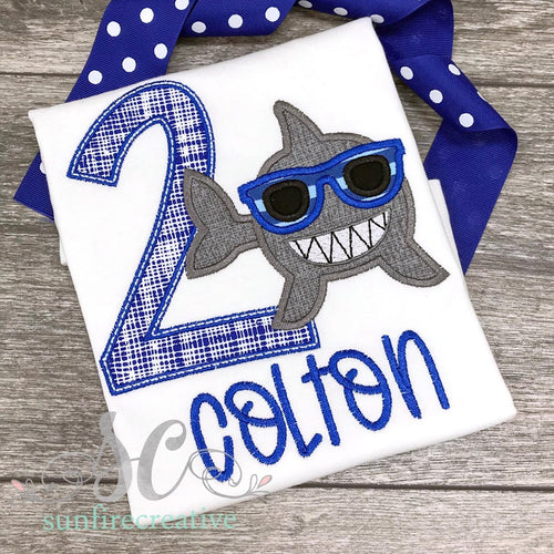 Boy Shark Birthday Shirt