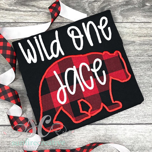 Wild One Bear Birthday Shirt