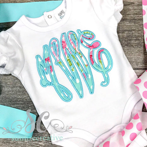 Girl Monogrammed Outfit - Personalized Outfit