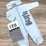 Baby Boy Footed Sleeper - Coming Home Outfit