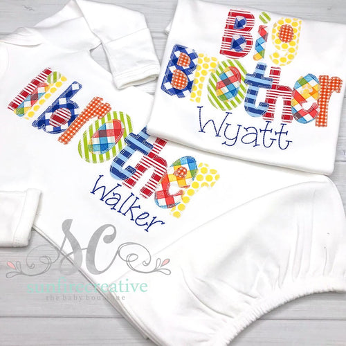 Sibling Set - Brother Set - Baby Gown