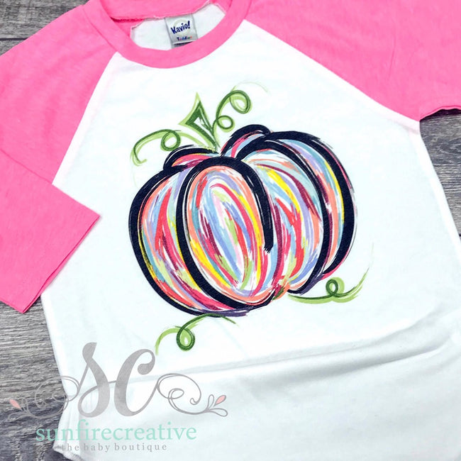 Colorful Pumpkin Shirt - DTG - Sunfire Creative Baby Boutique