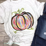 Colorful Pumpkin Shirt for Adults