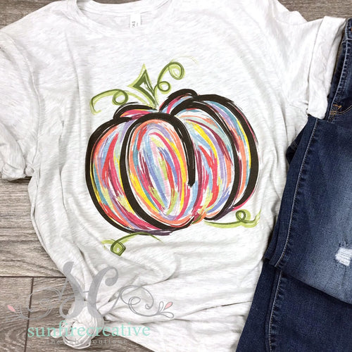Colorful Pumpkin Shirt for Adults - DTG
