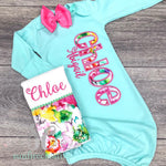 Baby Girl Gown - Newborn Outfit
