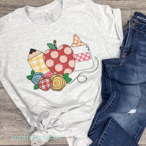 Girl's Back to School Printed Shirt - DTG