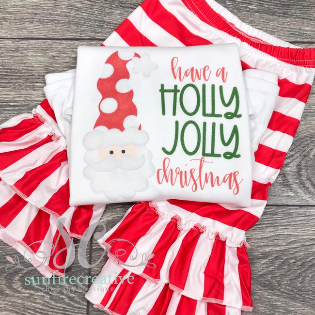 Have a Holly Jolly Christmas Set - DTG - Sunfire Creative Baby Boutique