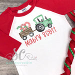 Christmas Tractor Shirt - Printed Christmas Shirt