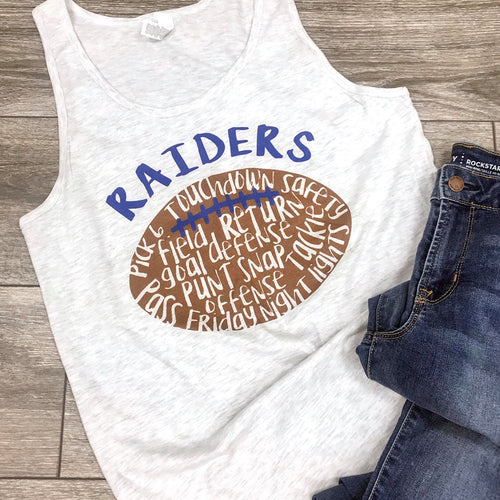 Raiders Football Spirit Shirt - Choose Your Color & Team - DTG