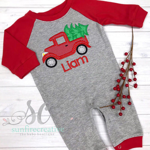 Christmas Outfit - Boy's Christmas Romper