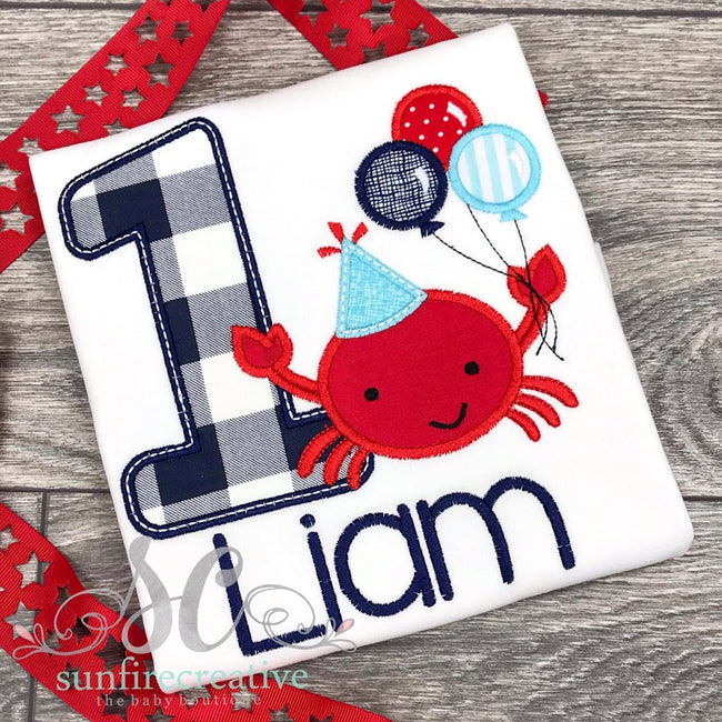 Crab Birthday Shirt - Sunfire Creative Baby Boutique