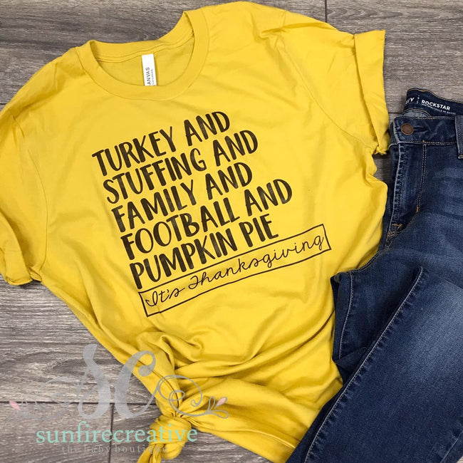 Thanksgiving Printed Adult Shirt - DTG - Sunfire Creative Baby Boutique