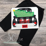 Boy Christmas Outfit - Christmas Truck Shirt - Sunfire Creative Baby Boutique
