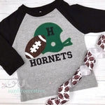 Football Shirt - Boys Football and Helmet Shirt