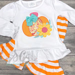 Sunflower Pumpkin Fall Outfit for Girls - Thanksgiving Outfit - Sunfire Creative Baby Boutique