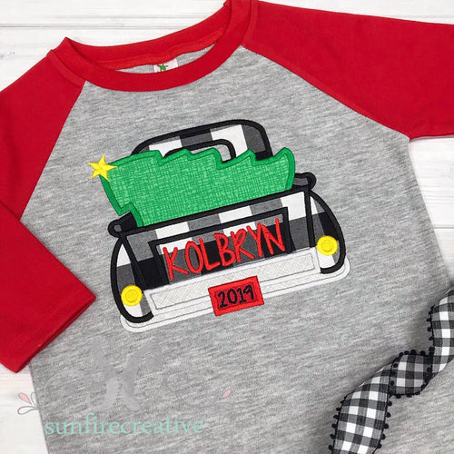 Christmas Truck Outfit for Boys