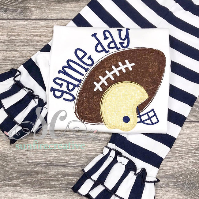 Game Day Outfit for Girls - Football Shirt for Girls