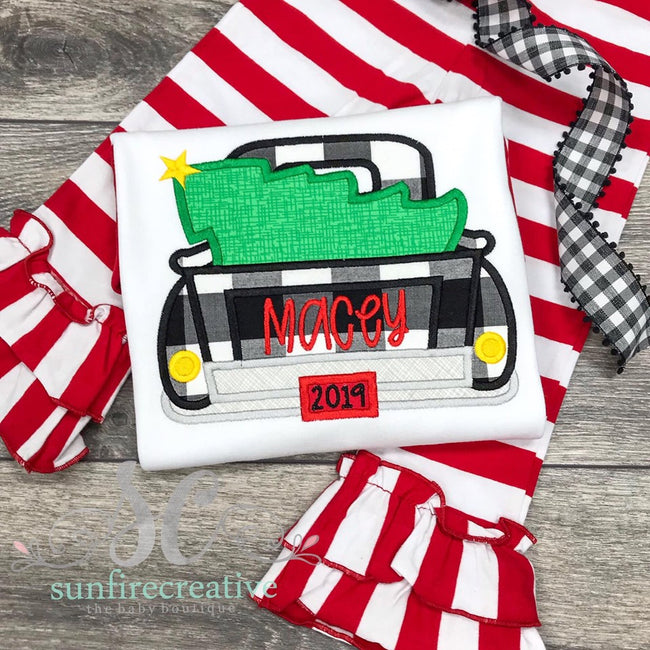Girls Christmas Truck Outfit - Christmas Outfit