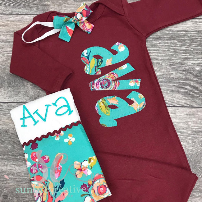Girls Coming Home Outfit - Baby Girl Outfit - Sunfire Creative Baby Boutique