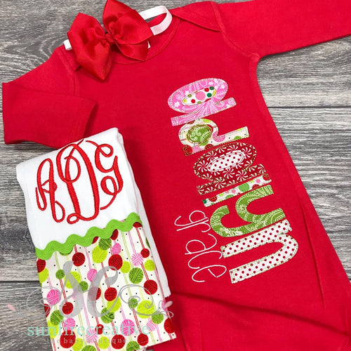 Red Christmas Gown - Baby Girl Outfit