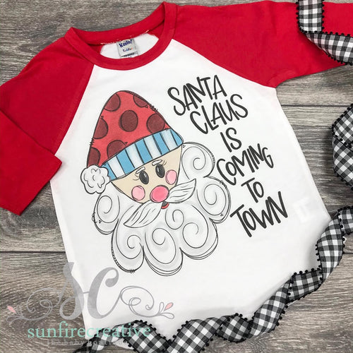 Santa Claus is coming to town Printed Shirt - DTG