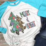 Merry & Bright Christmas Shirt - DTG