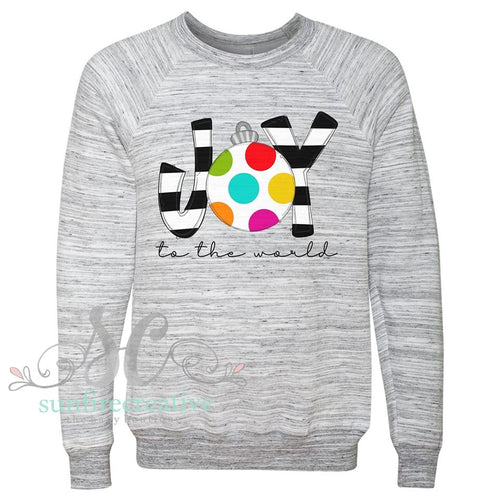 JOY to the World Marble Sweatshirt - DTG