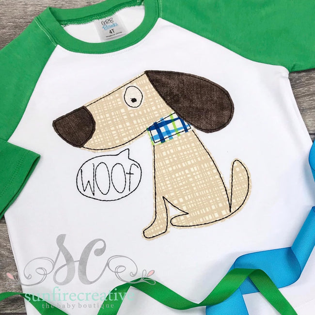 Dog Shirt - Woof Shirt - Sunfire Creative Baby Boutique