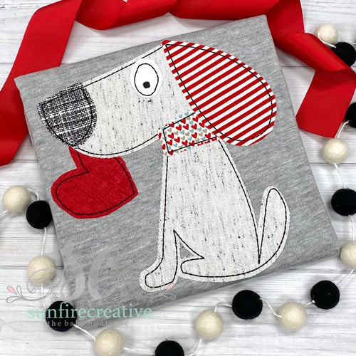Gray Valentine Dog Shirt