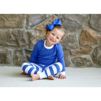 Blue Striped Christmas Pajamas