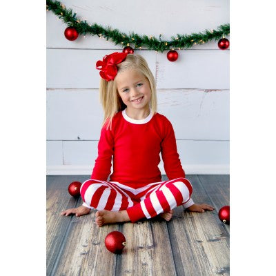 Red Striped Christmas Pajamas