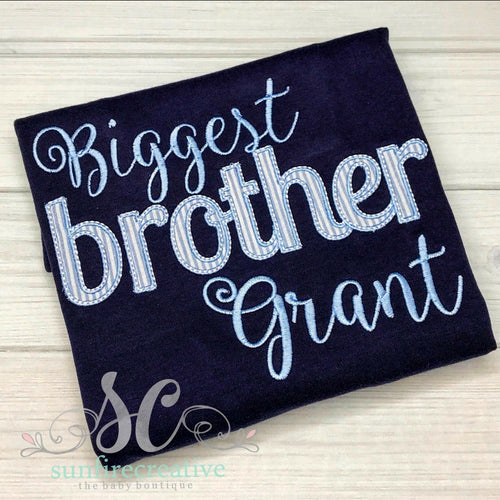 Biggest Brother Shirt - Sibling Shirt