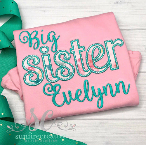 Pink Big Sister Shirt - Birth Announcement Shirt