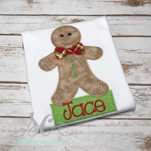 Boy Gingerbread Shirt - Christmas Shirt for Boys