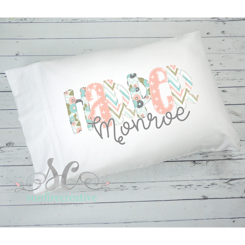Coral & Mint Pillowcase
