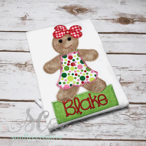 Girl Gingerbread Shirt - Christmas Shirt for Girls