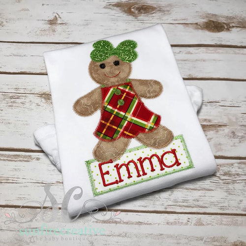 Christmas Gingerbread Shirt - Toddler Girl Shirt