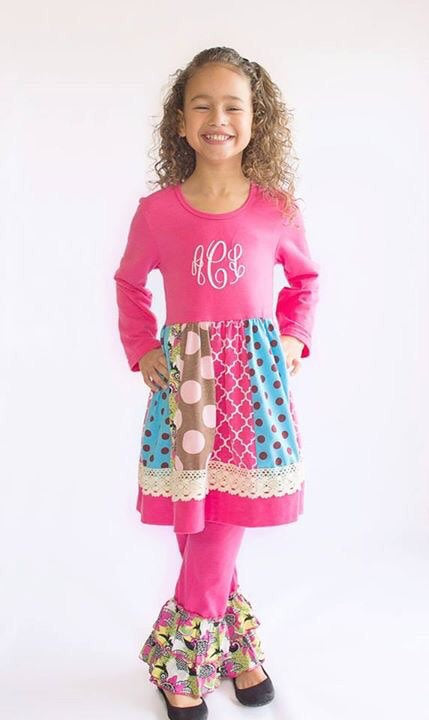 Multi-Colored Ruffle Pants Set - Sunfire Creative Baby Boutique