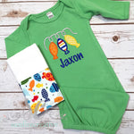 Baby Boy Coming Home Outfit - Fishing Baby Coming Home Outfit - Sunfire Creative Baby Boutique